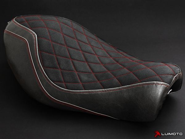 Harley Davidson Sportster Iron 883 Red Stitch Seat Cover