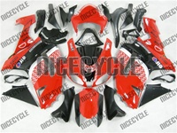 Kawasaki ZX6R Red/Black Race Style Fairings