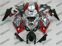 Suzuki GSX-R 1000 Silver/Red Accents Fairings