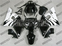 Yamaha YZF-R6 White/Black Fairings
