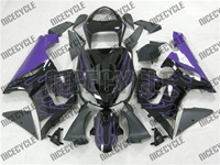 Kawasaki ZX6R Purple Flame Fairings