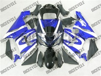 Kawasaki ZX6R White/Blue Fairings