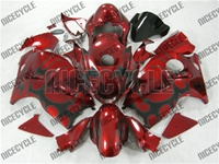 Candy Red Tribal Suzuki GSX-R 1300 Hayabusa Fairings