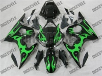 Yamaha YZF-R6 Green Tribal Fairings