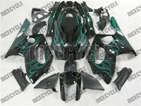 Yamaha YZF-600R Green Flame Fairings