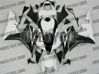 Honda CBR 600RR Black/White Fairings