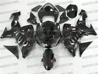 Kawasaki ZX10R Red Flames/Silver Fairings