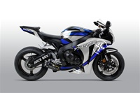 Honda CBR 1000RR Two Bros Silver Blue Fairings