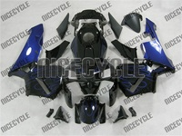 Honda CBR 600RR Blue Flame on Black Fairings