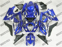 Suzuki GSX-R 1000 Silver Tribal/Blue Fairings