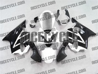 White/Black Honda CBR 600 F4i Fairings