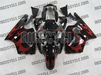 Kawasaki ZX12R Red Tribal Fairings