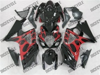 Suzuki GSX-R 1000 Red Tribal on Black Fairings