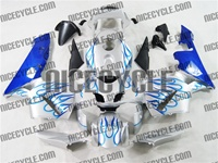 Honda CBR 600RR Blue Fire on Silver Fairings