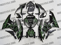 Green Flame Kawasaki ZX6R Fairings