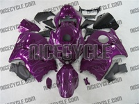 Purple Metallic Flames Suzuki GSX-R 1300 Hayabusa Fairings