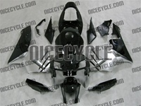 Honda CBR 600RR Black/Silver Fairings