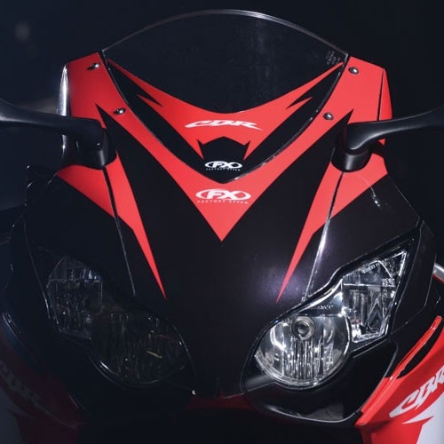 Honda CBR EVR Windscreen Decal Graphics By Factory Effex - Motorcycle decal graphics