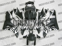 Honda CBR 600RR White Flamed Fairings