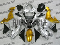 Silver/Gold Kawasaki ZX10R Fairings
