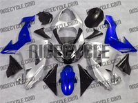 Kawasaki ZX10R Silver/Blue Fairings