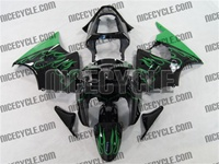 Kawasaki ZX6R Green Flame Fairings