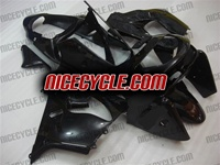 Kawasaki ZX9R Solid Black Fairings