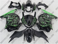 Green Fire Ninja 250R Fairings