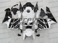 Honda CBR 600RR Pure White/Black Fairings