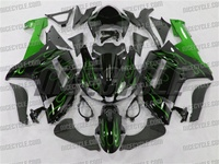 Kawasaki ZX6R Metallic Green Fire Fairings
