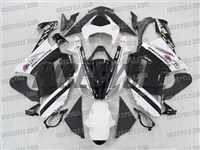Kawasaki ZX6R White/Black Monster-ous Fairings