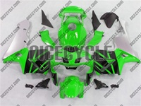 Honda CBR 600RR Green/Silver Fairings