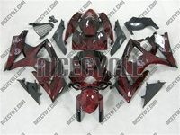 Suzuki GSX-R 1000 Red Fire Airbrushed Fairings