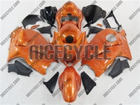 Sunburst Orange Flames Suzuki GSX-R 1300 Hayabusa Fairings
