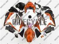 Orange/White Suzuki GSX-R 1300 Hayabusa Fairings