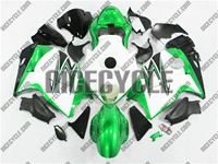 Metallic Green/White Suzuki GSX-R 1300 Hayabusa Fairings