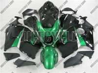 Candy Green/Black Suzuki GSX-R 1300 Hayabusa Fairings