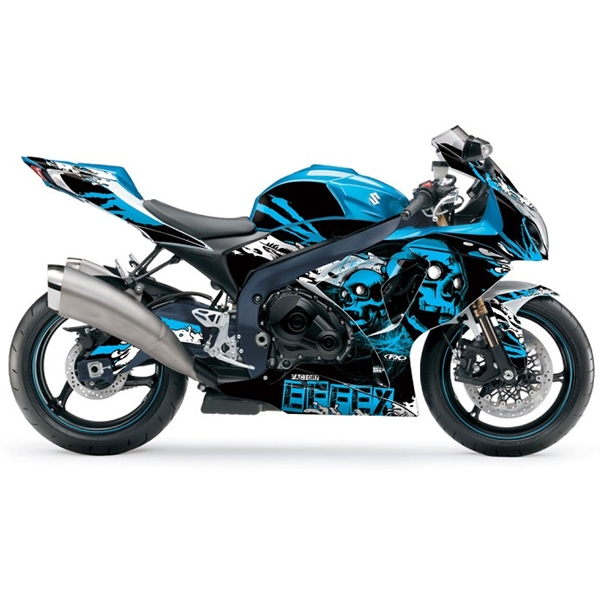 Suzuki GSXR Skull PreCut Full Wrap Decal Graphics By Factory Effex - Decal graphics for motorcycles