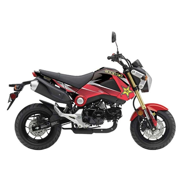 Honda Grom Rockstar Full Wrap Decal Graphics By Factory Effex