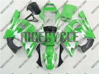 Yamaha YZF-R6 Green/Silver Tribal Fairings