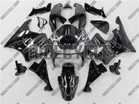 Honda CBR 900RR Black/Silver Flame Fairings
