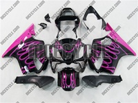 Pink Fire Flame Honda CBR 600 F4i Fairings