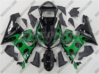 Kawasaki ZX6R Green Tribal Fairings