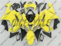 Yellow Kawasaki ZX6R Fairings