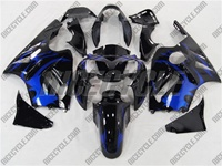 Kawasaki ZX12R Plasma Blue Tribal Fairings