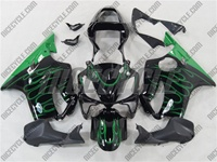 Honda CBR 600 F4i Green Fire Flame Fairings