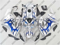 Honda CBR 1000RR Silver/Blue Tribal Fairings