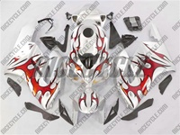 Honda CBR 1000RR Silver/Red Tribal Fairings