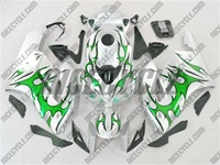 Honda CBR 1000RR Silver/Green Tribal Fairings