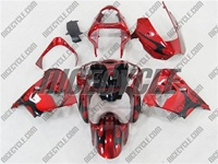 Kawasaki ZX9R Candy Red Tribal Fairings